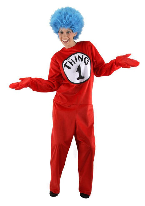Elope Dr. Seuss Dr. Seuss Thing 1 & Thing 2 Deluxe Adult Costume (Small/Medium) - Cat in the Hat