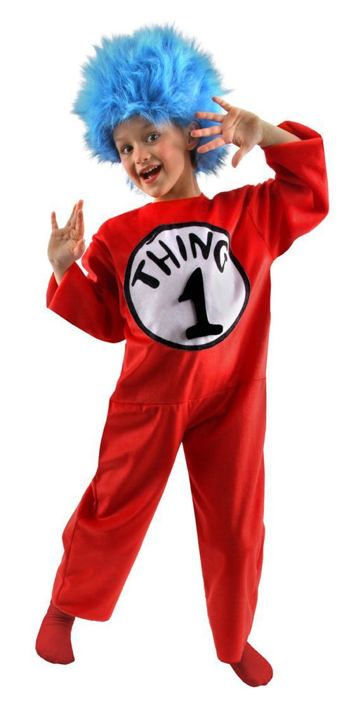 Elope Dr. Seuss Dr. Seuss Thing 1 & Thing 2 Kids Deluxe Costume (Small 4-6) - Cat in the Hat