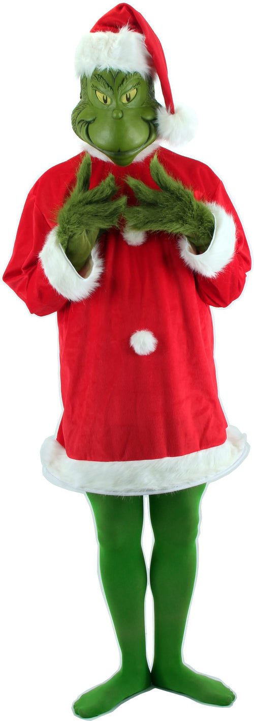 Elope Dr. Seuss Santa Grinch with Mask (Lg/X-Large) - Dr. Seuss Christmas Costume