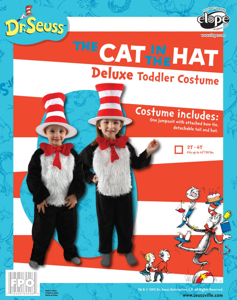 286e5e0c73665 Toddler Boys Cat in the Hat Deluxe Costume (2T-4T) - Cat in the Hat