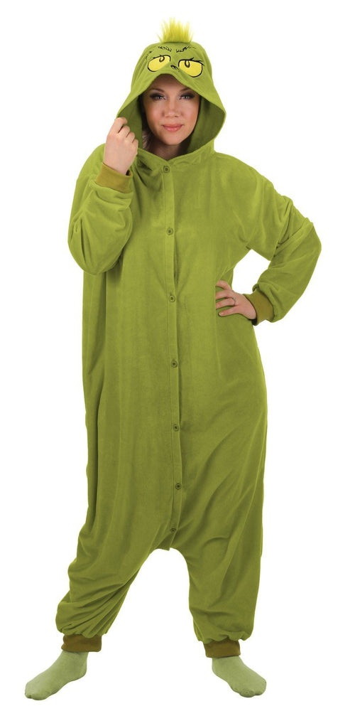 Elope, Inc. Dr. Seuss Dr. Seuss The Grinch Kigurumi Adult Costume