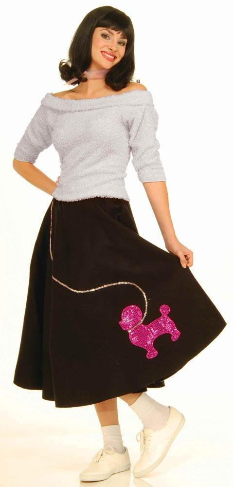 Forum Novelties Costumes Adult Black Poodle Skirt
