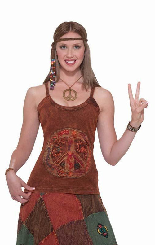 Forum Novelties Costumes Adult Hippie Peace Sign Tank Top