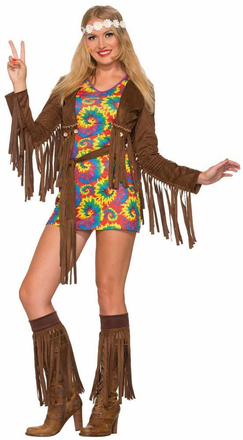 Forum Novelties Costumes Adult Hippie Shimmy Mini Costume Dress