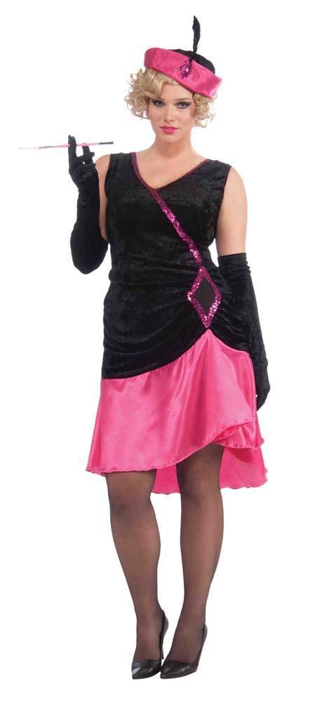 Forum Novelties Costumes Adult Plus Size Penny Pink Flapper Costume