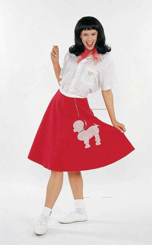 Adult Retro Rock Scarlet Rose Costume - X-Small/Small
