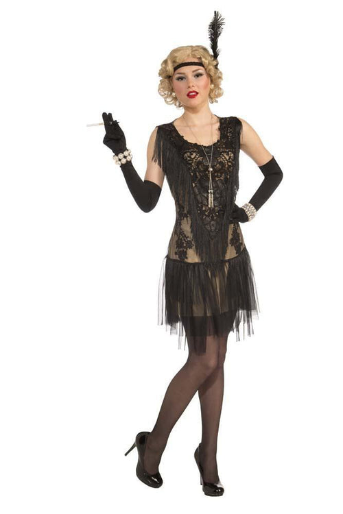 ee0e4756c4 Adult Roaring 20s Lacey Lindy Flapper Costume