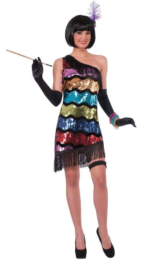 Forum Novelties Costumes Adult Swanky Sequins Flapper Costume - Med/Large