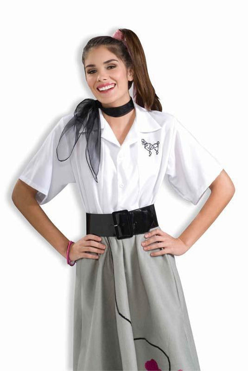 Forum Novelties Costumes Adult White Poodle Blouse - Large(12-14)