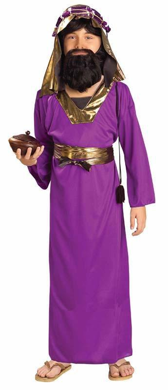 Forum Novelties Costumes LARGE Boys Purple Wise Man Costume
