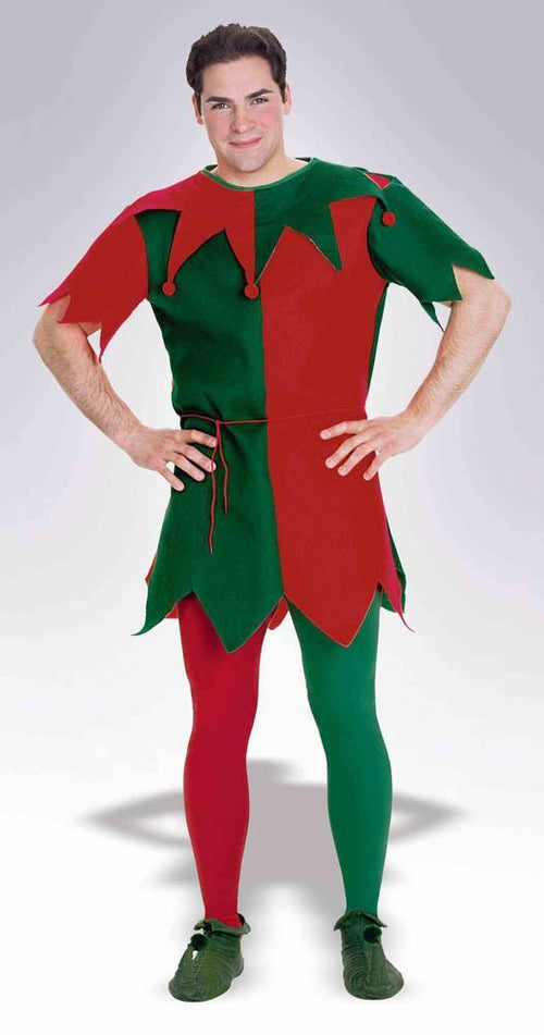 Forum Novelties Staging Christmas Tights-Red/Green-Std