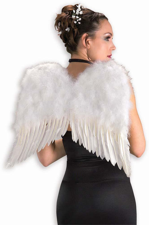 "Forum Novelties Staging Feather Wings 22"" White"