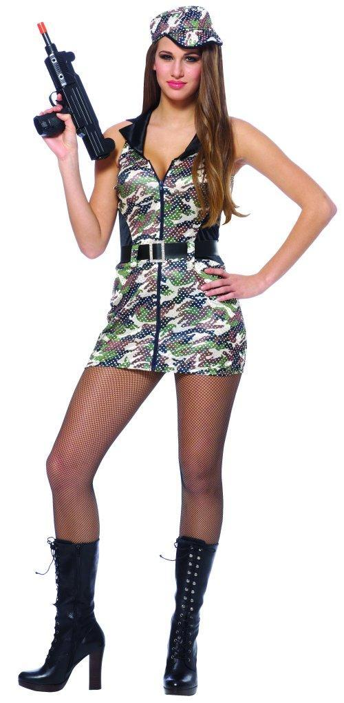 Franco Costumes SMALL Adult Army Brat Costume
