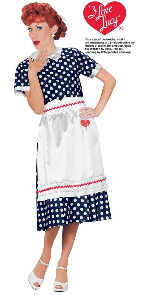 Fun World Costumes Adult I Love Lucy Polka Dot Costume