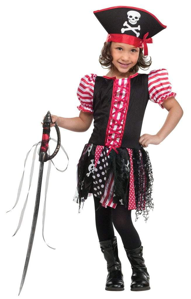 1d0a78d657c Toddler Girls Stowaway Sweetie Pirate Costume