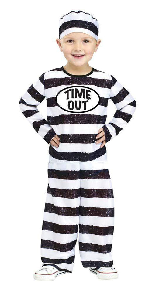 Fun World Costumes LRG 3T-4T Toddler Boys Time Out Prisoner Costume