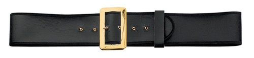 Halco Costume Accessories Deluxe Black Naugahyde Santa Belt (X-Large)