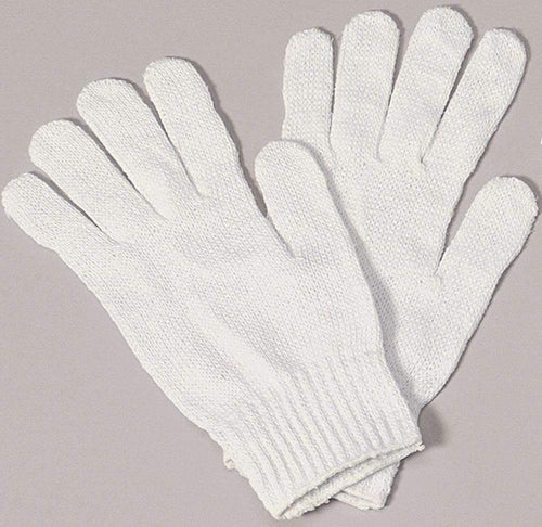 Halco Costume Accessories White Cotton Santa Gloves
