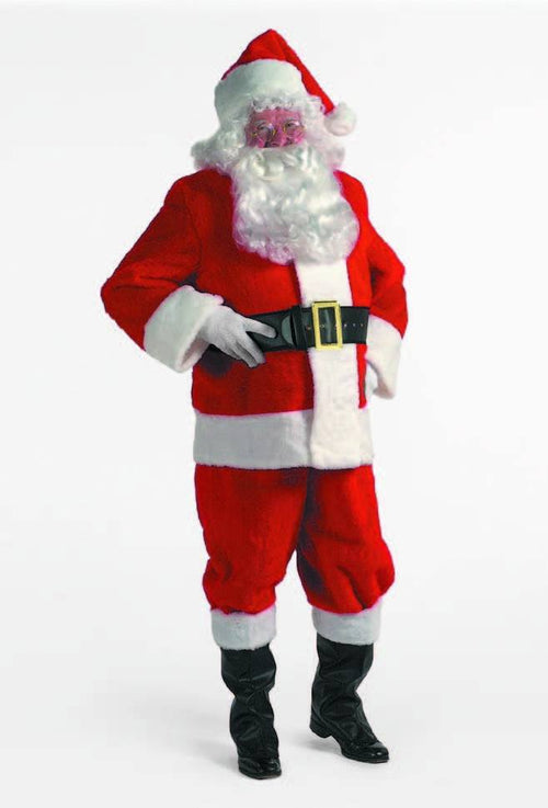 Halco Costumes Deluxe Red Plush Santa Suit