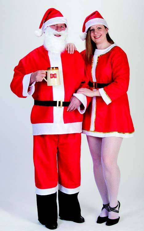 Halco Costumes Saloon Santa Suit - Large