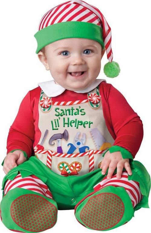 InCharacter Christmas LARGE Baby Santa's Lil' Helper Costume