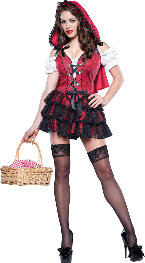 InCharacter Costumes Adult Racy Red Riding Hood Costume