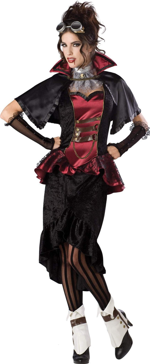 InCharacter Costumes L Steampunk Vampiress Deluxe Costume