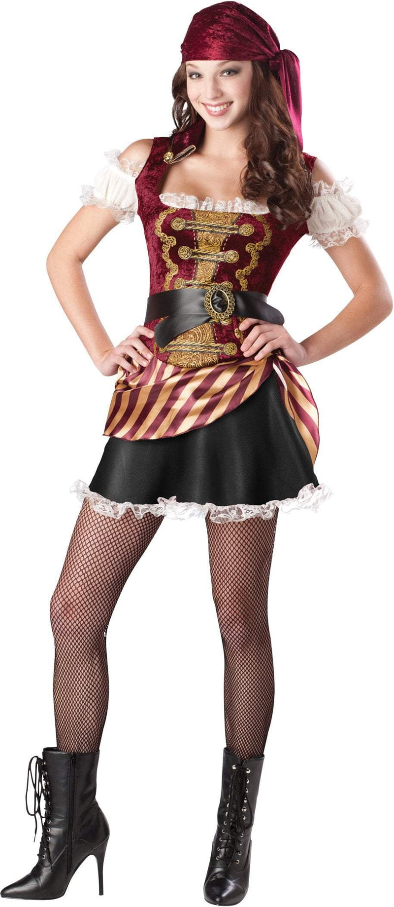 InCharacter Costumes LARGE (9-11) Teen Girls Pirate Babe Costume