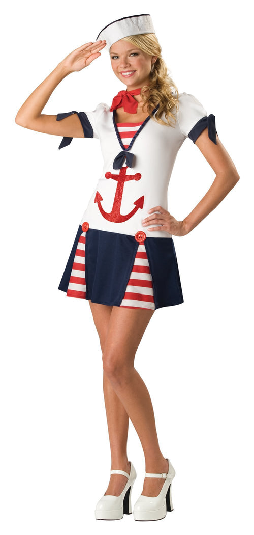 InCharacter Costumes LARGE (9-11) Teen Girls Sassy Sailor Costume