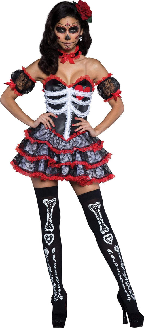 InCharacter Costumes LARGE Senorita Bone-Ita Costume