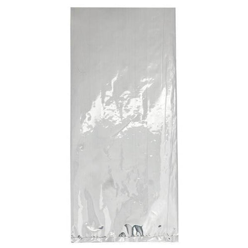 JJ's Party House Party Supplies Medium Metallic Silver Plastic Treat Bags 25ct