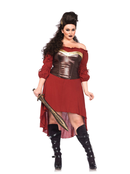 Leg Avenue Costume Accessories 1X-2X Plus Size Warrior Babe Corset