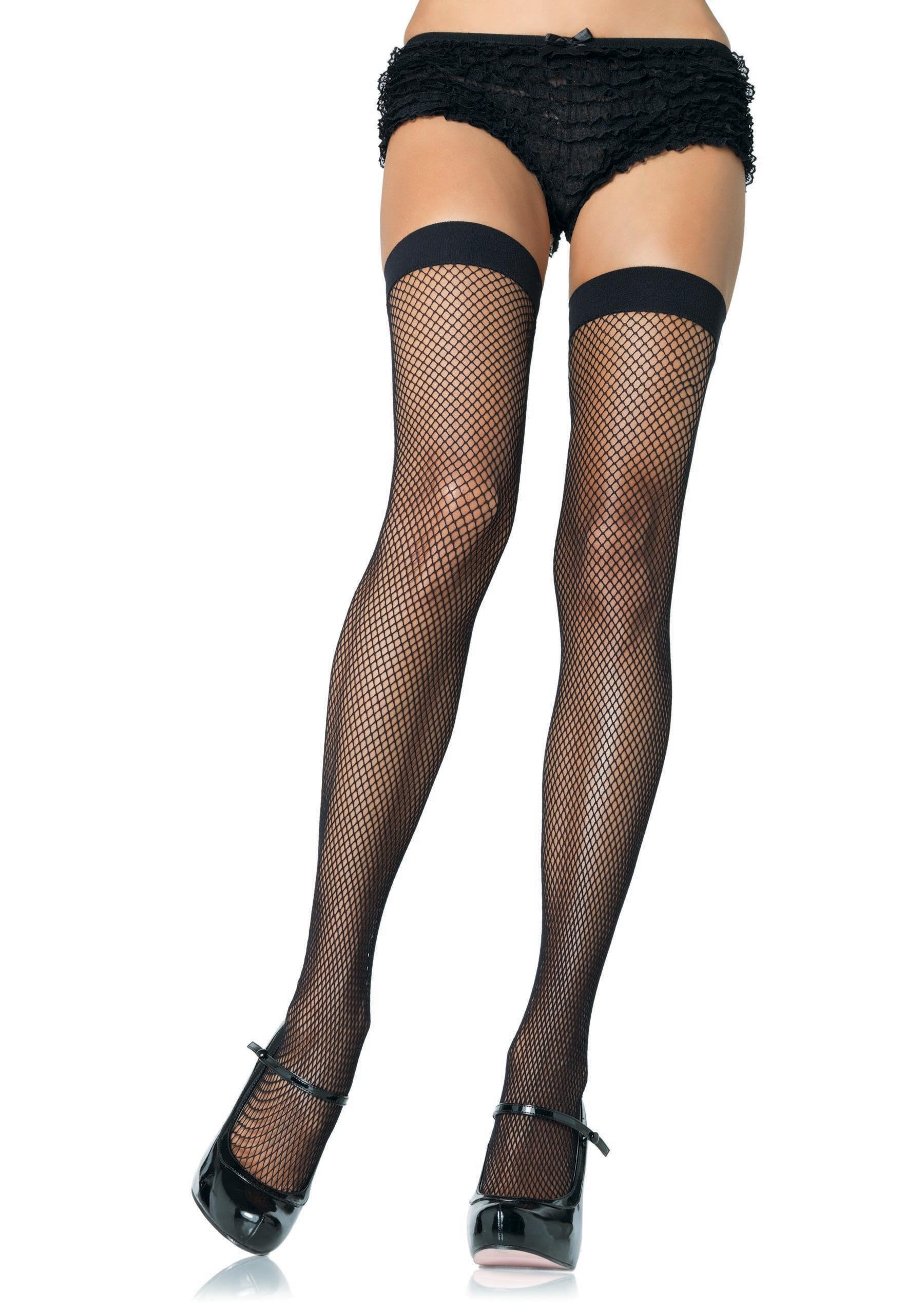 Leg Avenue Costume Accessories BLACK / O/S Nylon Fishnet Stockings