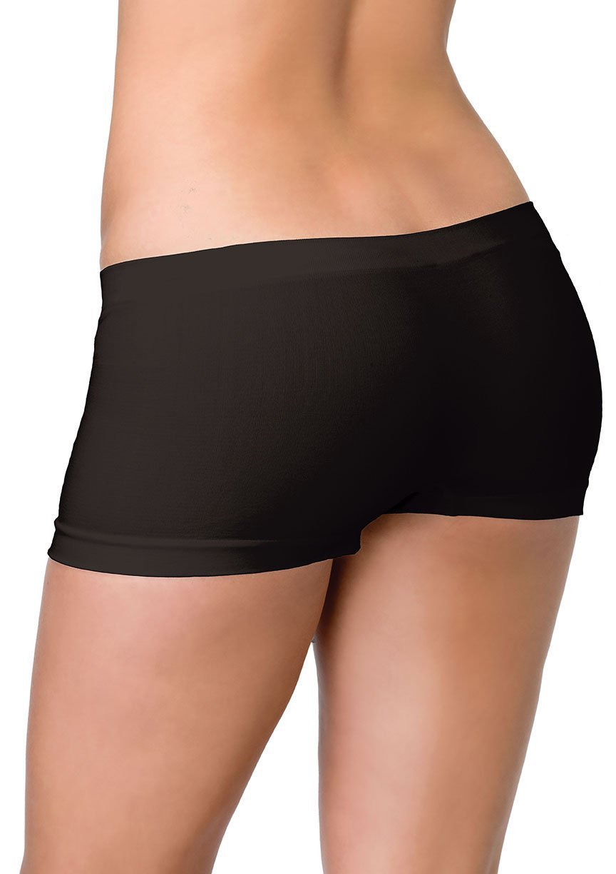 Leg Avenue Costume Accessories BLACK / O/S Seamless Boyshorts (One Size)