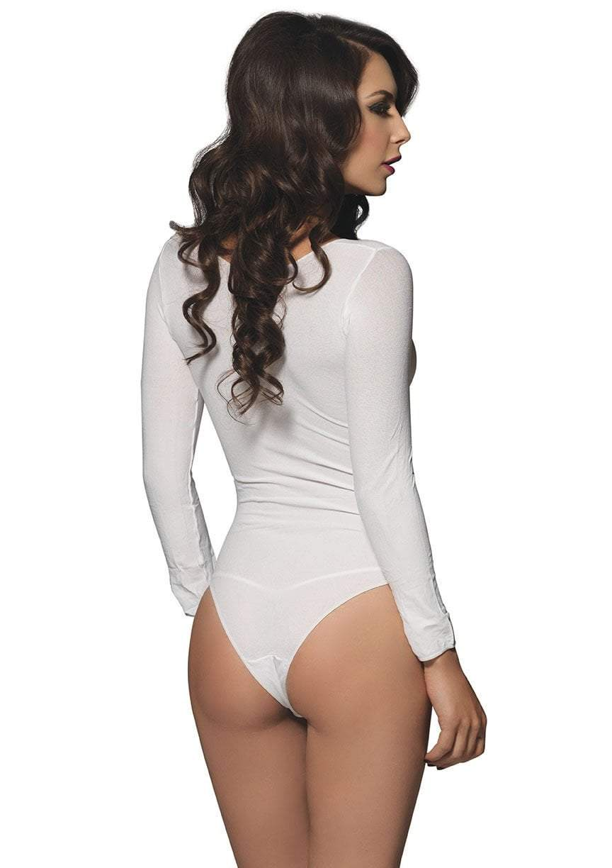 Leg Avenue Costume Accessories Opaque Long Sleeves Bodysuit