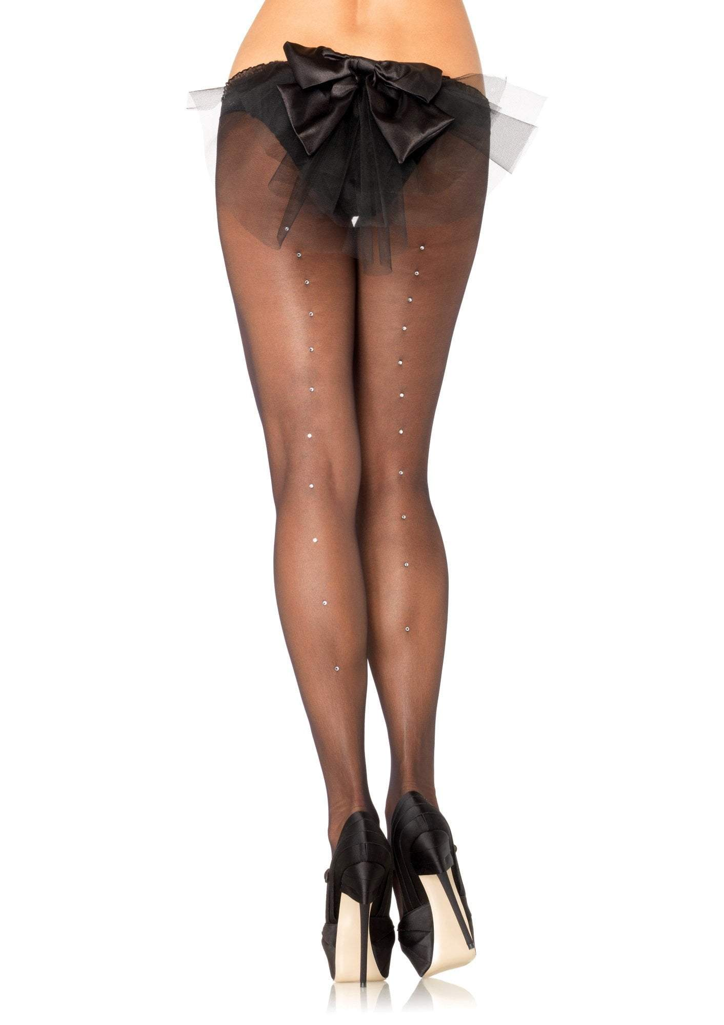 Leg Avenue Costume Accessories Sheer Pantyhose with Rhinestones