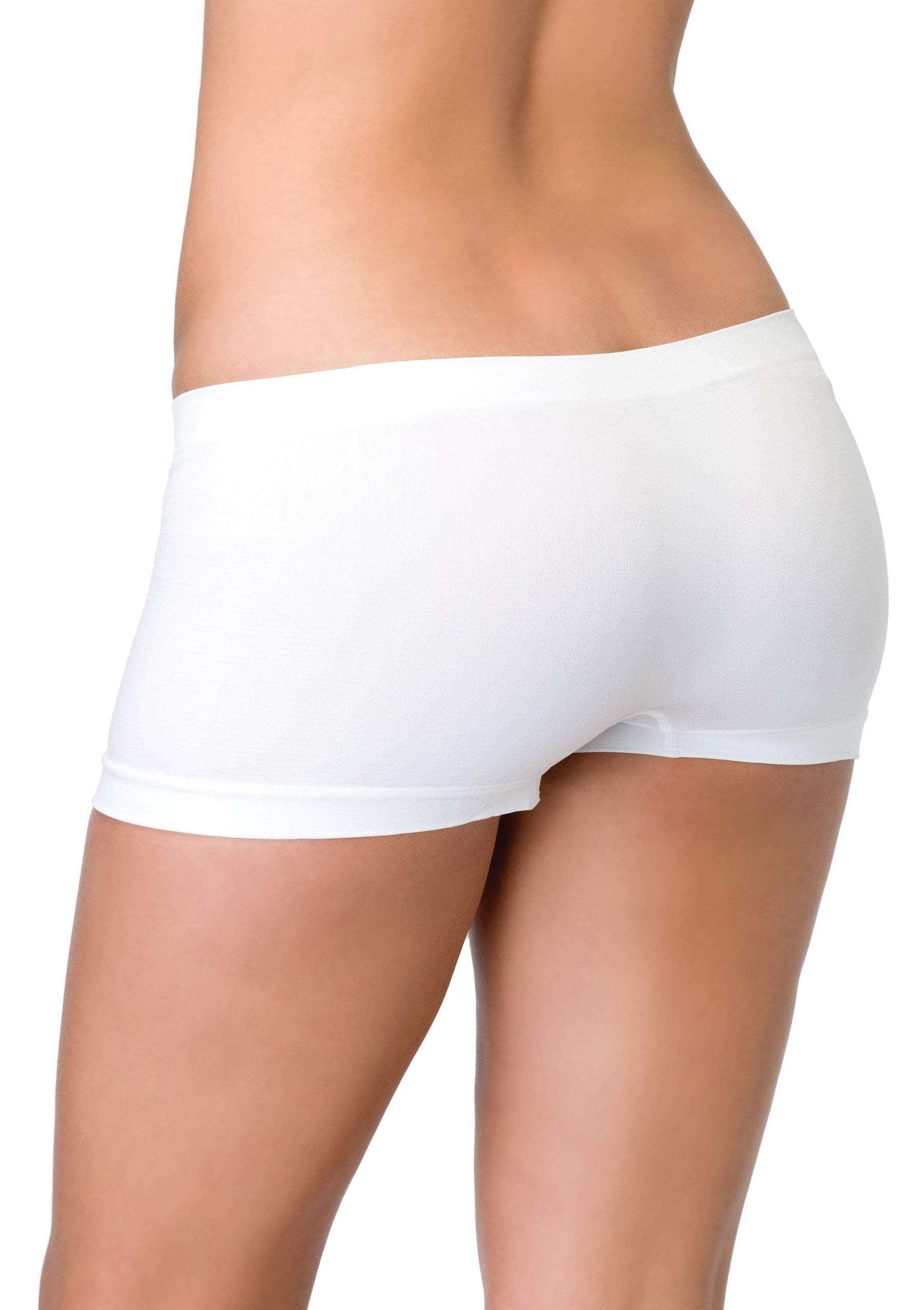 Leg Avenue Costume Accessories WHITE / O/S Seamless Boyshorts (One Size)