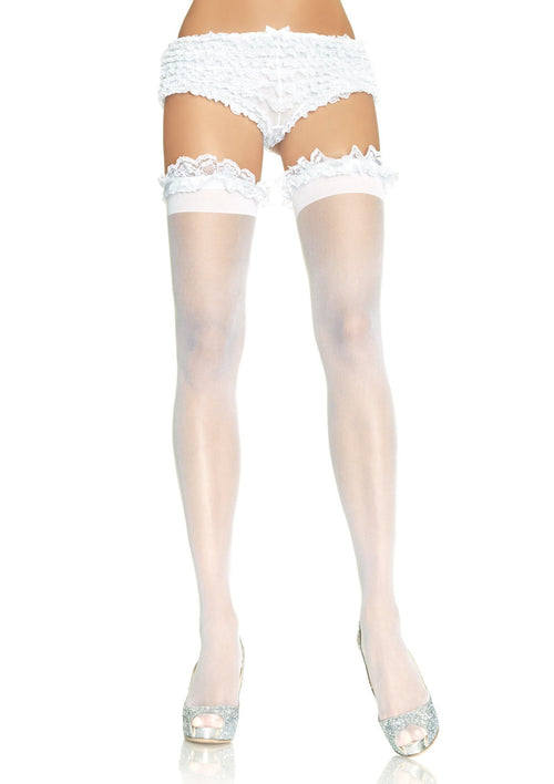 1fed8a5a63d Sheer Stocking with Garter Lace Top
