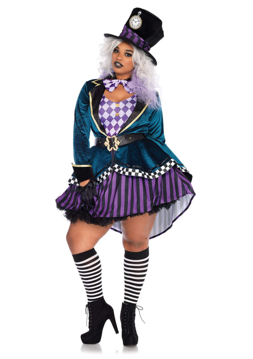 Leg Avenue Costumes 1X-2X Adult Delightful Mad Hatter Plus Costume