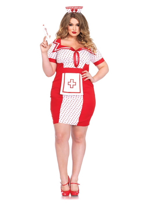 Leg Avenue Costumes 1X-2X Bedside Betty Nurse Plus Costume