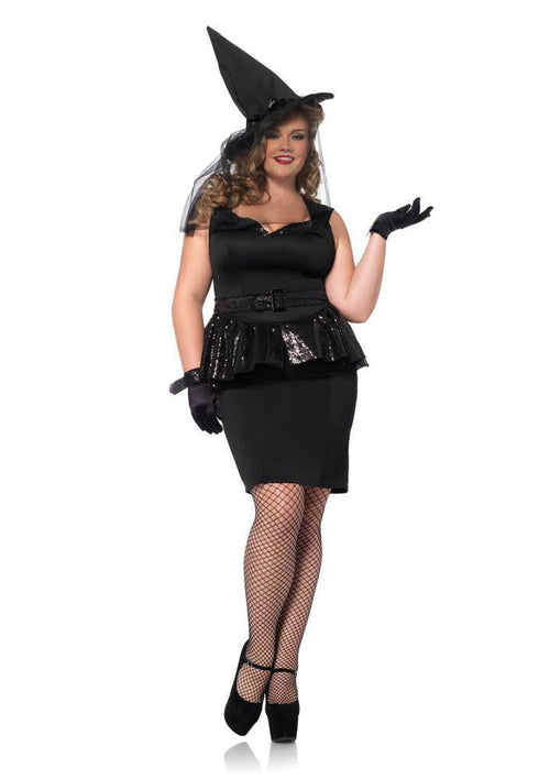 Leg Avenue Costumes 1X-2X / BLACK Plus Vintage Witch Costume