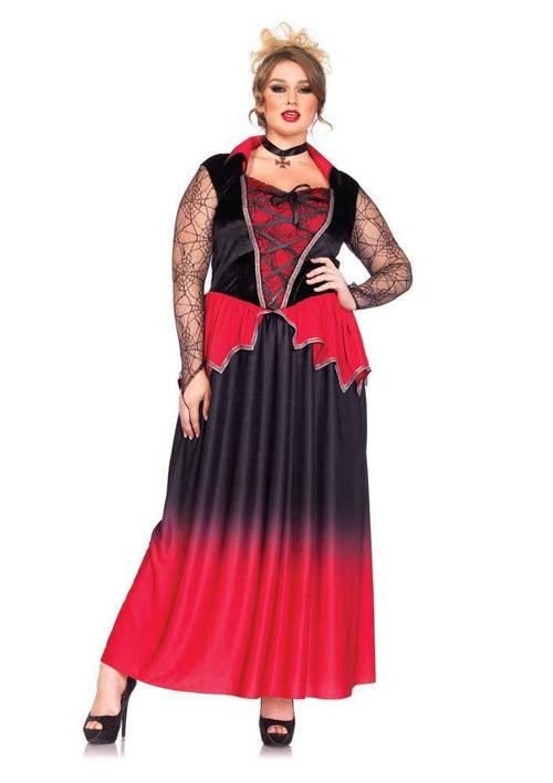 Leg Avenue Costumes 1X-2X Plus Size Bitten Beauty Vampire Costume