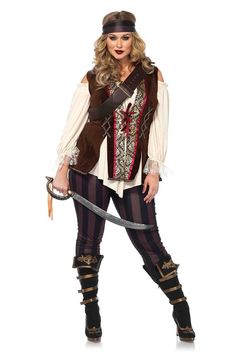 Leg Avenue Costumes 1X-2X Plus Size Captain Blackheart Pirate Costume
