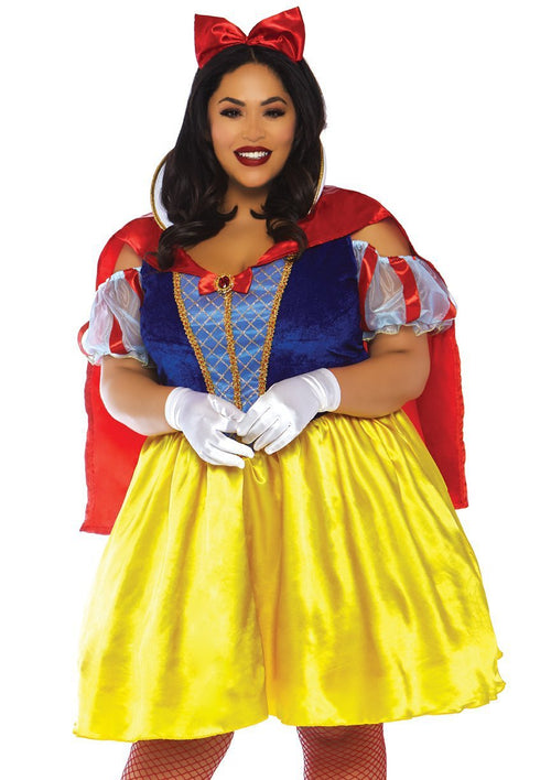 Leg Avenue Costumes 1X-2X Plus Size Fairytale Snow White Costume