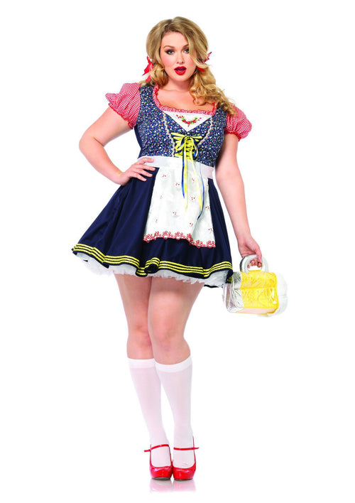 Leg Avenue Costumes 1X-2X Plus Size German Beer Girl Costume