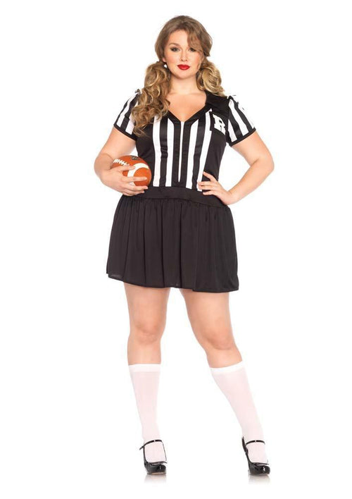 Leg Avenue Costumes 1X-2X Plus Size Halftime Hottie Referee Costume