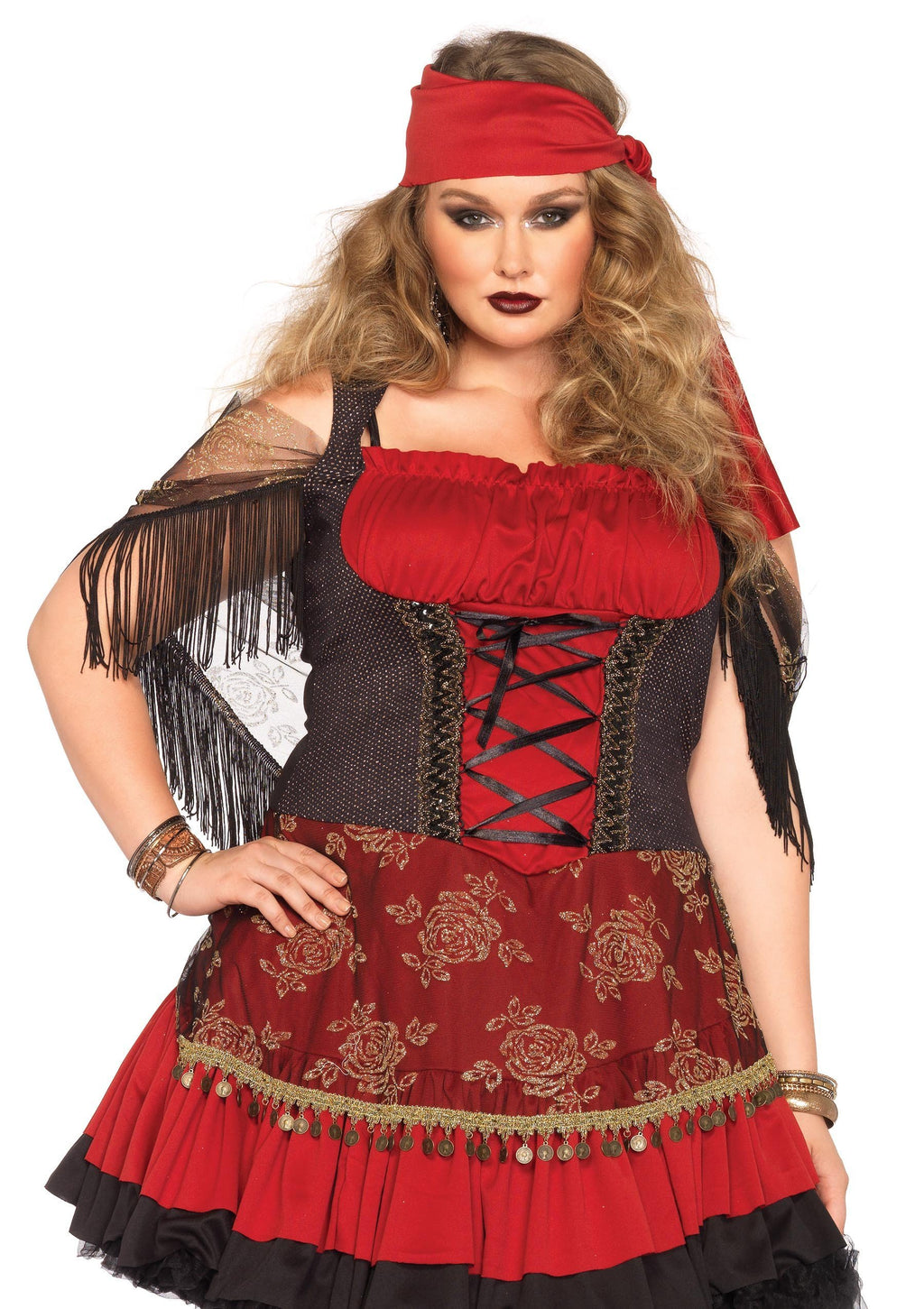 Leg Avenue Costumes 1X-2X Plus Size Mystic Vixen Pirate Costume