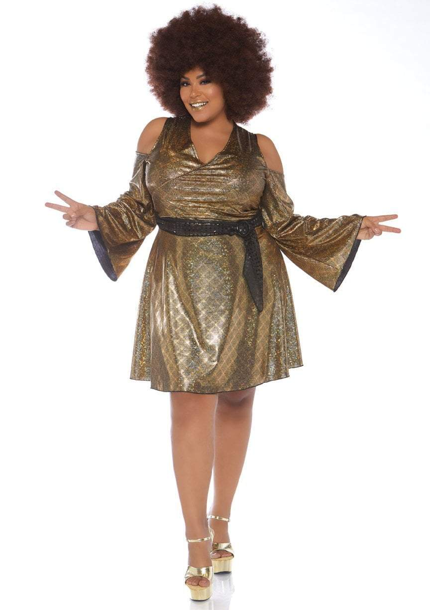 Leg Avenue Costumes 3X-4X Plus Size Disco Doll 70s Costume