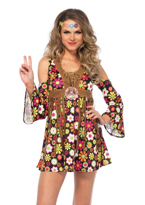Leg Avenue Costumes Adult Star Flower Hippie Costume