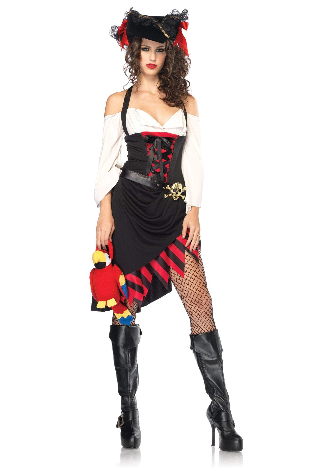 Leg Avenue Costumes BLACK/RED / MED/LGE Adult Saucy Wench Pirate Costume